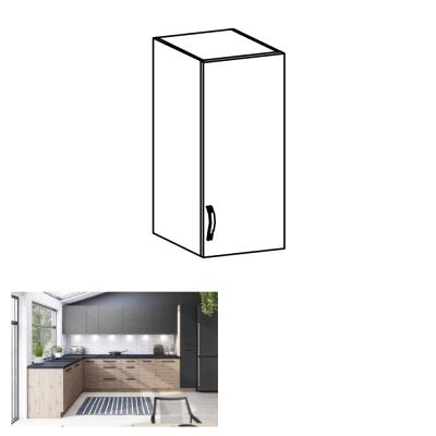 Horná skrinka, dub artisan/sivý mat, pravá, LANGEN G30