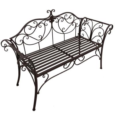 Záhradná lavička, hnedá, ETELIA