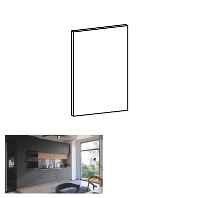 Dvierka na umývačku riadu, sivý mat, 44, 6x57, LANGEN