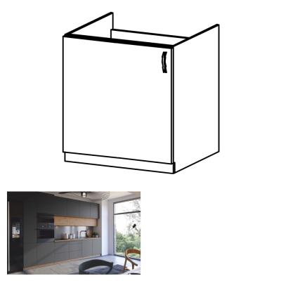 Drezová skrinka, dub artisan/sivý mat, ľavá, LANGEN D60Z