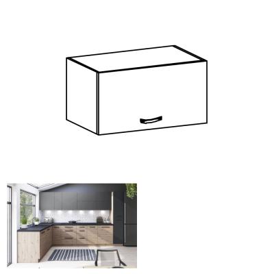 Horná skrinka, dub artisan/sivý mat, LANGEN G60KN