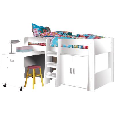 Kombinovaná posteľ do detskej izby, biela, FANY