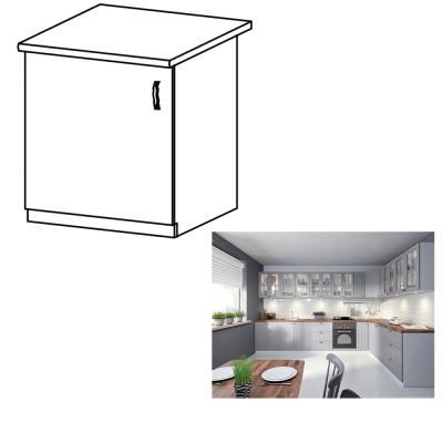Spodná skrinka, sivá matná/biela, ľavá, LAYLA D601F