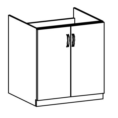 Drezová skrinka, sivá matná/biela, LAYLA D80Z