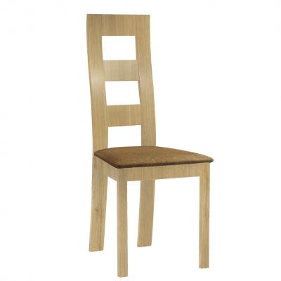 Jedálenská stolička, svetlohnedá/dub medový, FARNA