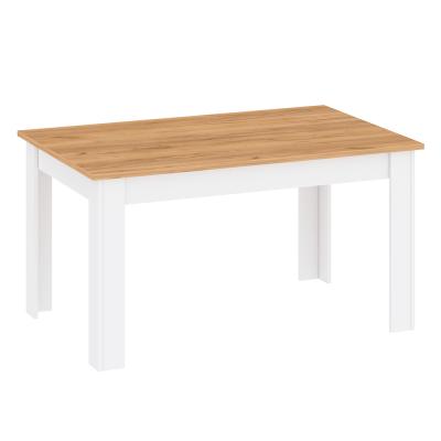 Jedálenský stôl, biela alba/dub craft zlatý, LANZETTE S