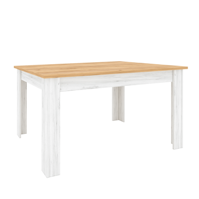 Jedálenský stôl, rozkladací, dub craft zlatý/dub craft biely, SUDBURY