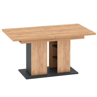 Jedálenský stôl, dub craft zlatý/grafit sivá, FIDEL