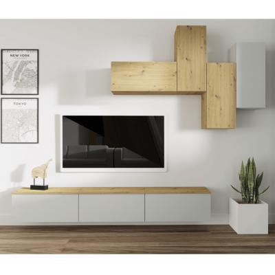 Obývacia stena, svetlosivá/dub artisan, OTEN
