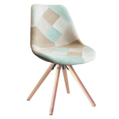 Jedálenská stolička, patchwork mentol/hnedá, GLORIA