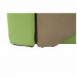 Rozkladacie kreslo, zelená/béžová, ľavá, KUBOŠ