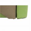 Rozkladacie kreslo, zelená/béžová, pravá, KUBOŠ