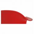 Kreslo, červená/buk, DAMEN NEW