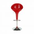 Barová stolička, červená/chróm, ALBA NOVA