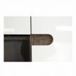 Komoda, biela extra vysoký lesk HG/dub tmavý truflový, LYNATET TYP 42