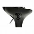 Barová stolička, čierna/chróm, ALBA NOVA