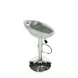 Barová stolička, strieborná/chróm, DONGO NOVE