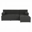 Rohová sedačka, sivý melír/vzor, pravá, MEXX