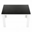Jedálenský stôl, biela/čierna, 120x80, KRAZ