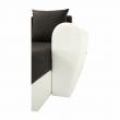 Rohová sedacia súprava, biela ekokoža/sivá látka, OXFORD