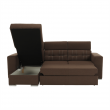Rohová sedacia súprava, hnedá/béžová, CHRIS