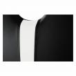 Stolička, čierna/biela, ekokoža/chróm, SIGNA