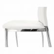 Jedálenská stolička, ekokoža biela/chróm, ERVINA
