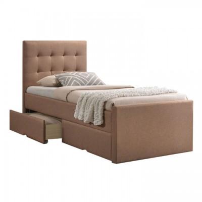 Moderná posteľ, svetlohnedá, 90x200, VISKA NEW