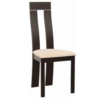 Drevená stolička, wenge/látka béžová magnólia, DESI NEW