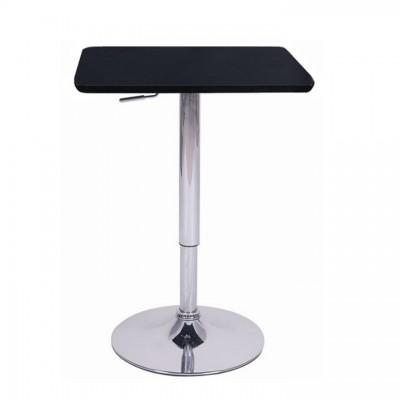 Barový stôl s nastaviteľnou výškou, čierna, 84-110, FLORIAN