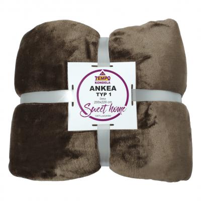 Obojstranná deka, hnedá, 200x220, ANKEA TYP 1