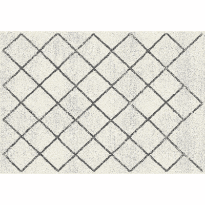 Koberec, béžová/vzor, 133x190, MATES TYP 2