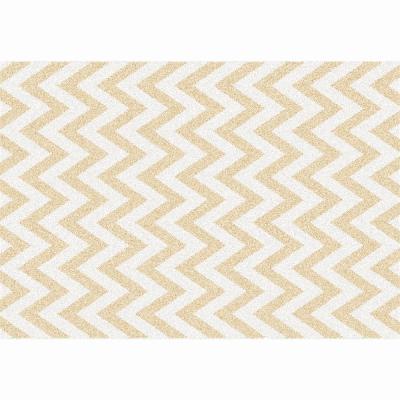 Koberec, béžovo-biela vzor, 67x120, ADISA TYP 2