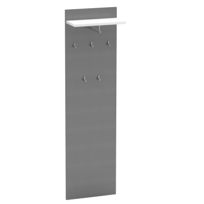 Vešiakový panel, grafit/biela, RIOMA NEW TYP 19