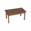 Jedálenský stôl, rozkladací, dub lefkas tmavý, MONTANA STW