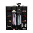 Modulárny šatníkový organizér, čierna/mliečna biela, RODAN TYP 2