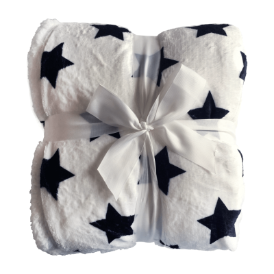 Obojstranná baránková deka, vzor hviezdy, 150x200, SEOLA