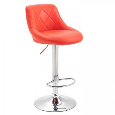 Barová stolička, červená/chrómová, MARID