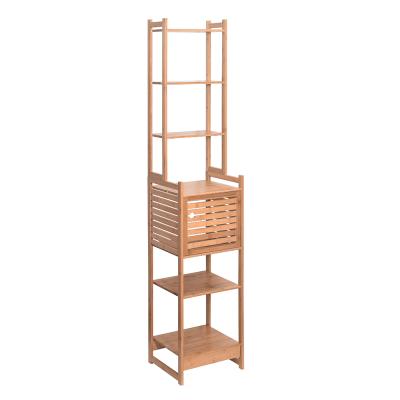Regál, prírodný bambus, SELENE TYP 4