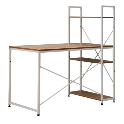 PC stôl/viacúčelový praktický stôl, dub/biela, VEINA