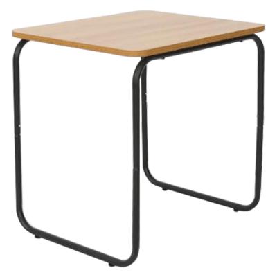 Príručný stolík, dub/čierna, LAVERNE TYP 3