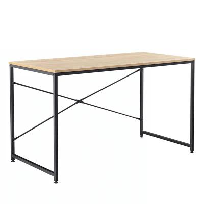 Písací stôl, dub/čierna, MELLORA