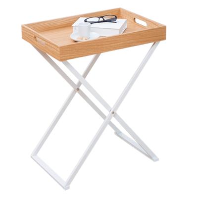 Servírovací stolík, prírodná/biela, BELENE