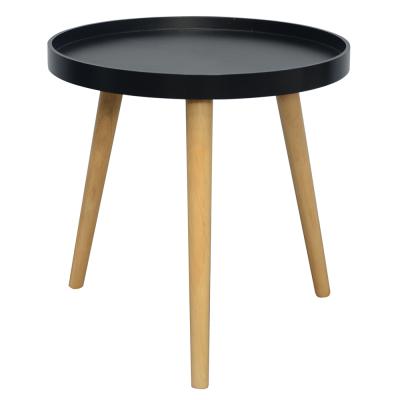 Príručný stolík, čierna/prírodná, SANSE TYP 2