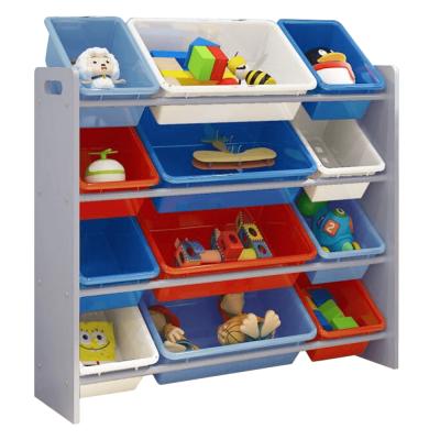 Organizér na hračky, viacfarebná/sivá, KIDO TYP 1