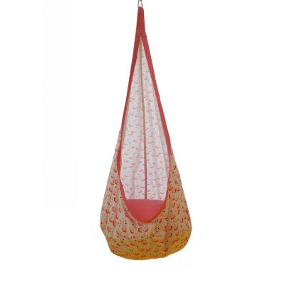 Závesné hojdacie kreslo, ružová/vzor plameniak, SIESTA TYP 2