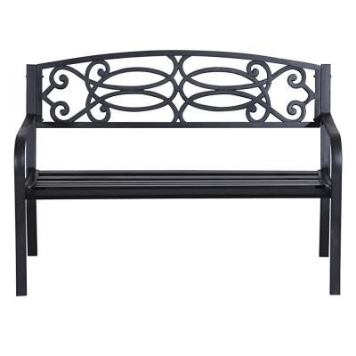 Záhradná lavička, čierna, VENDA