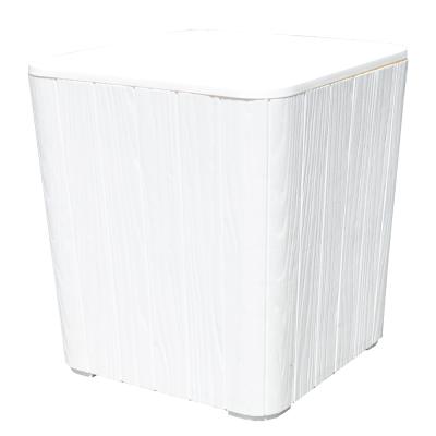 Záhradný úložný box/príručný stolík, biela, IBLIS