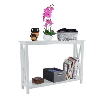 Konzolový stolík, biela, APOLOS