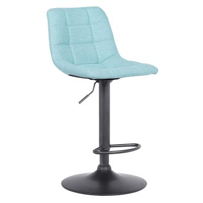Barová stolička, mentolová/čierna, LAHELA